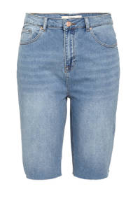 Simply Be high waist straight fit jeans bermuda light denim, Light denim