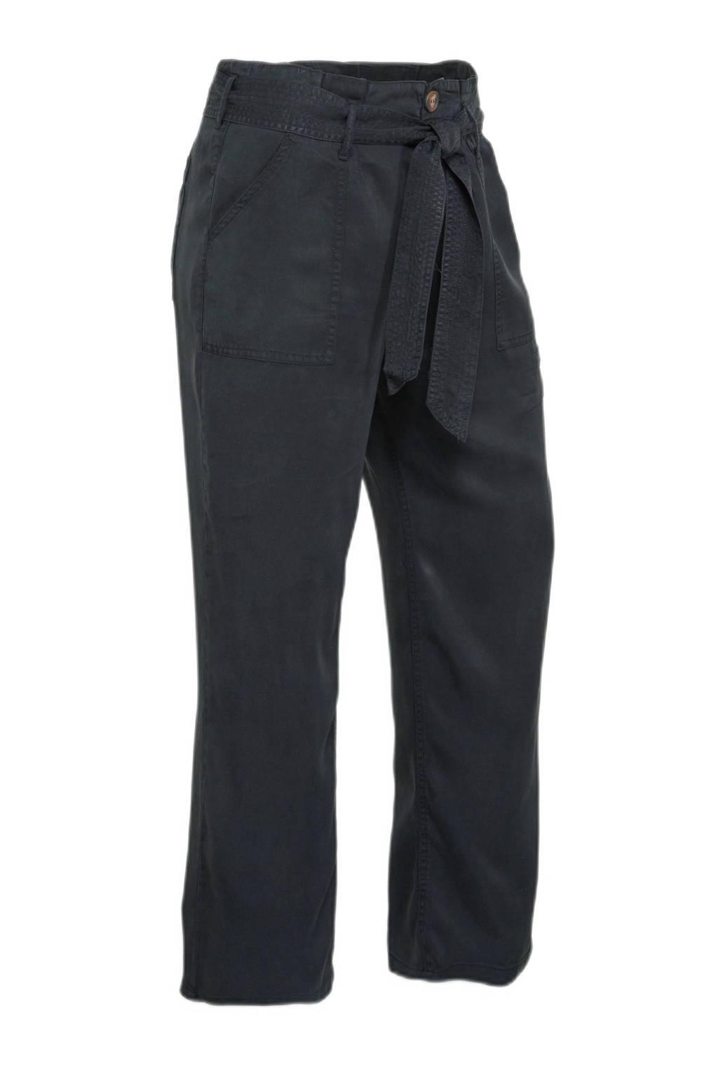 Simply Be wide leg palazzo broek zwart washed, Zwart washed