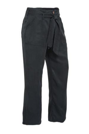 wide leg palazzo broek zwart washed