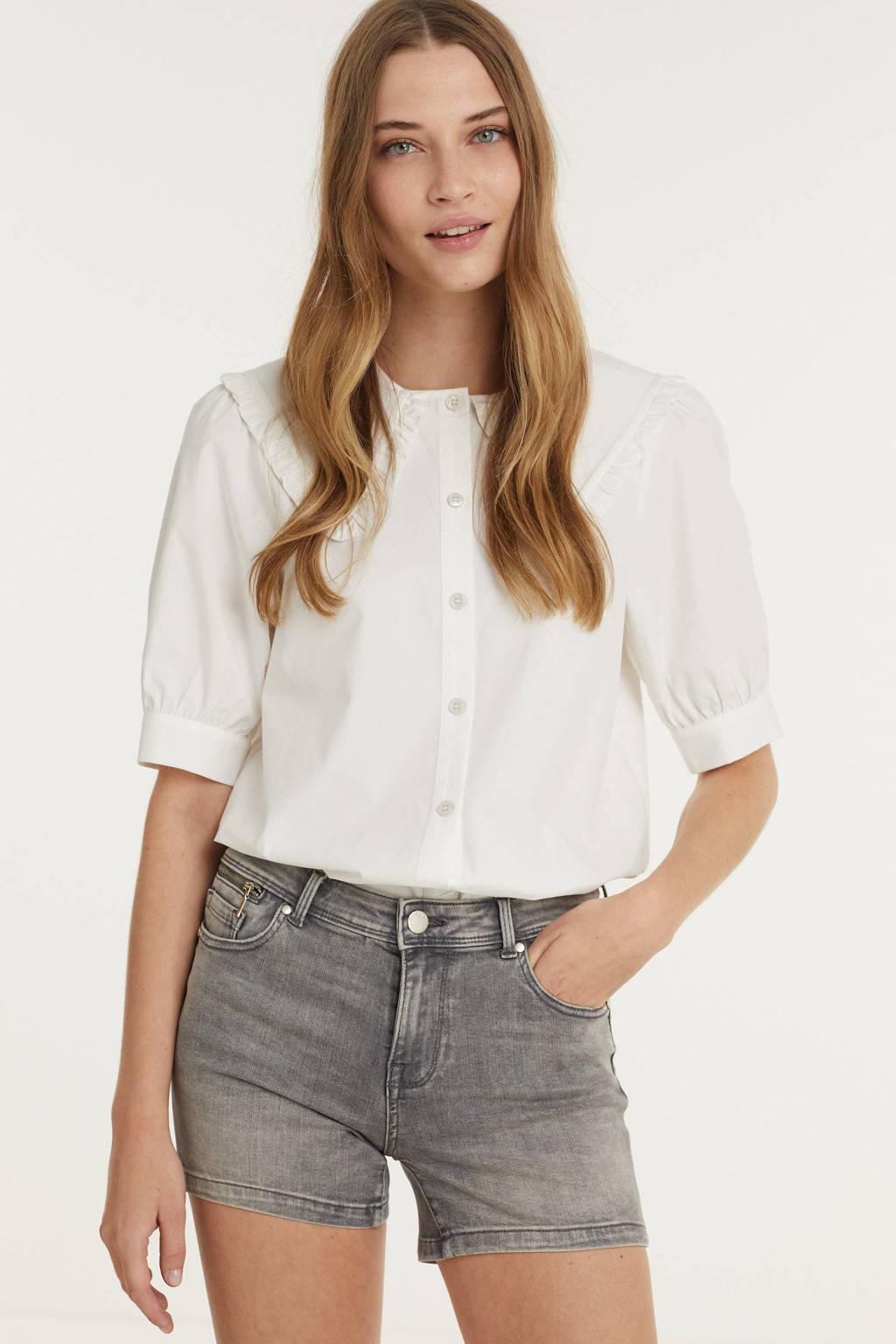 ONLY slim fit jeans short ONLISA grey denim, Grey denim