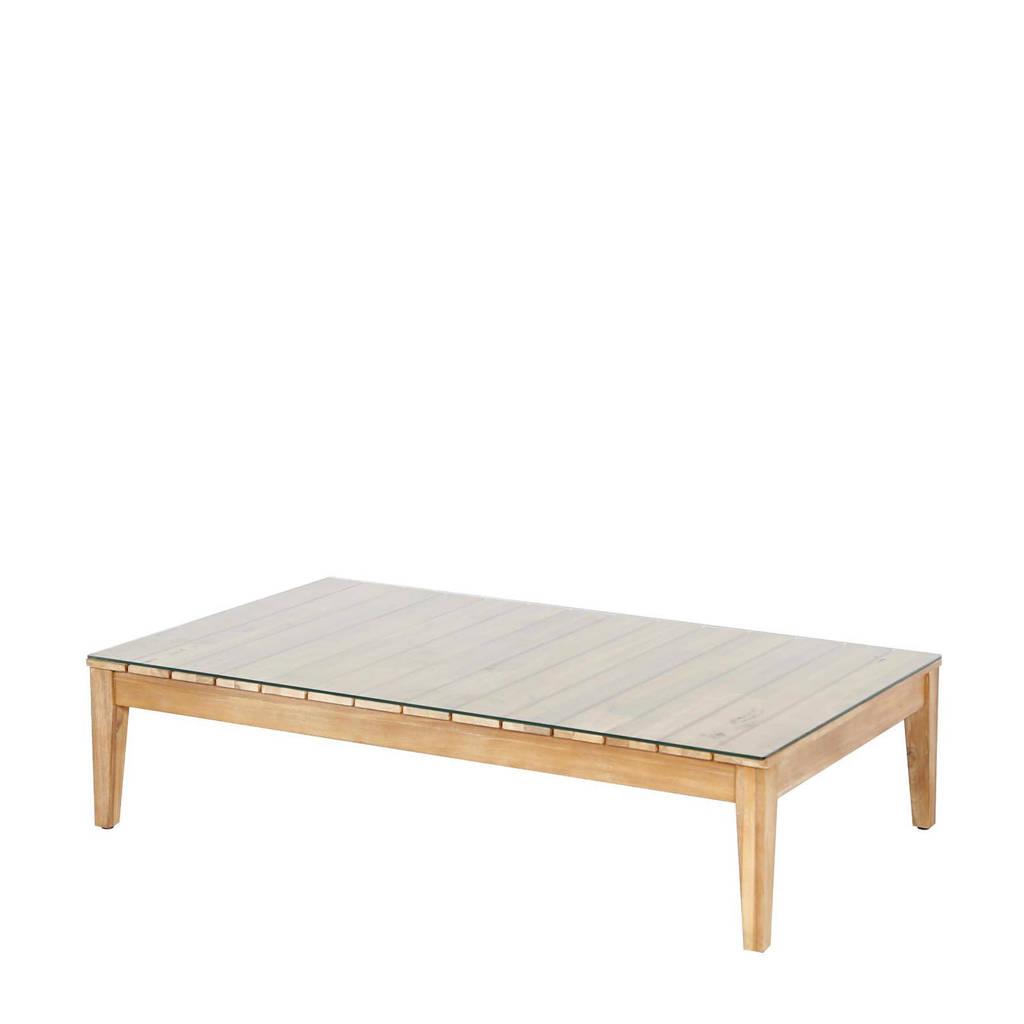 Wehkamp Home loungetafel Norton (120x70 cm), Lichtbruin/ Transparant