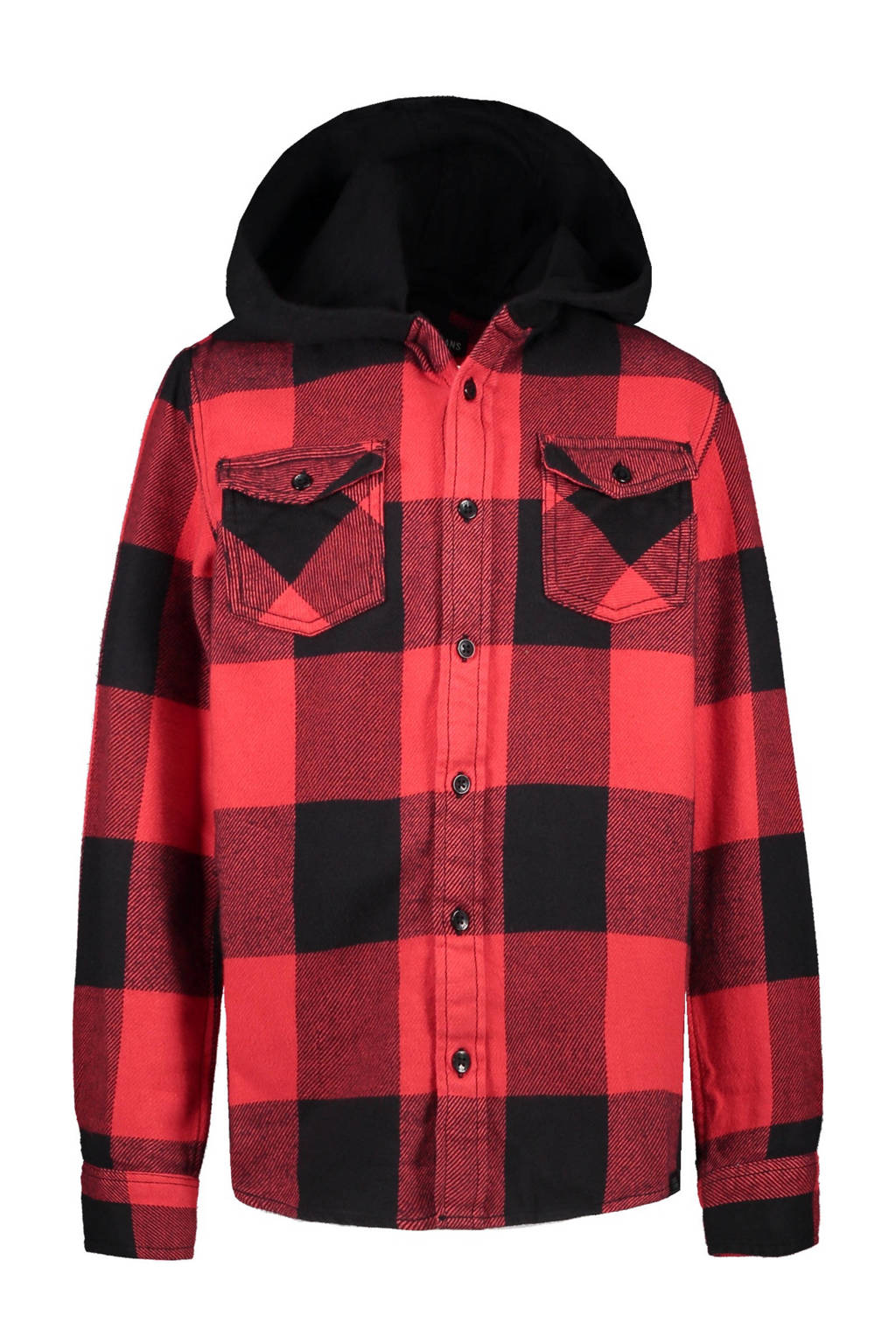 Cars geruit flanellen overhemd Freams rood/zwart, Rood/zwart
