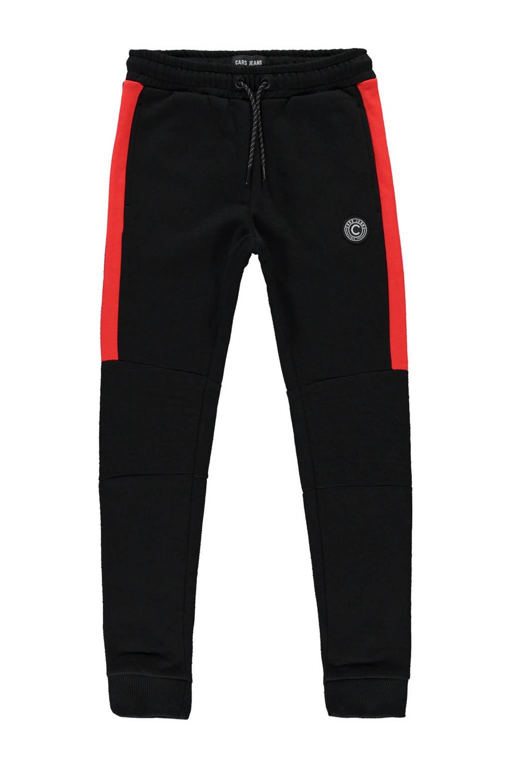 Cars regular fit joggingbroek Hylamm zwart/rood, Zwart/rood