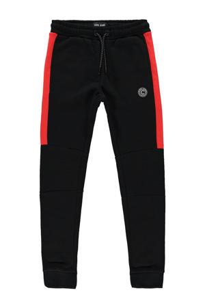 regular fit joggingbroek Hylamm zwart/rood