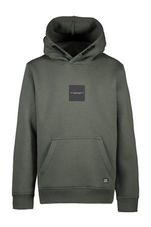 hoodie Sceams met printopdruk army groen