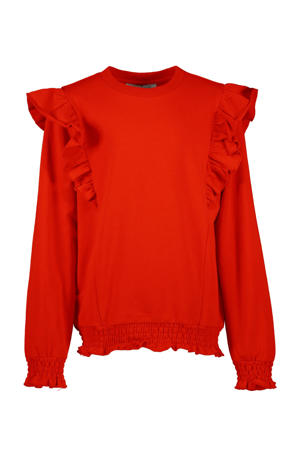 top Lizz met ruches rood