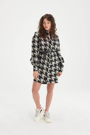 blousejurk Wish met pied-de-poule zwart/wit