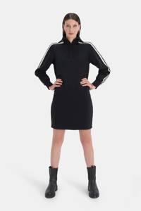 Shoeby Eksept sweatjurk Zipper zwart/wit, Zwart/wit