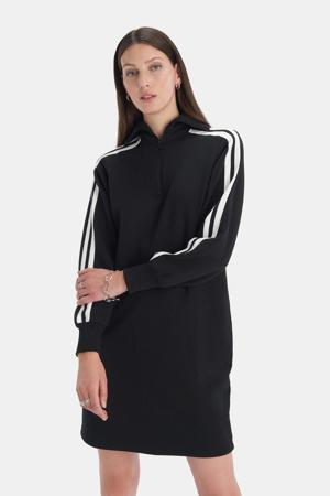 sweatjurk Zipper zwart/wit