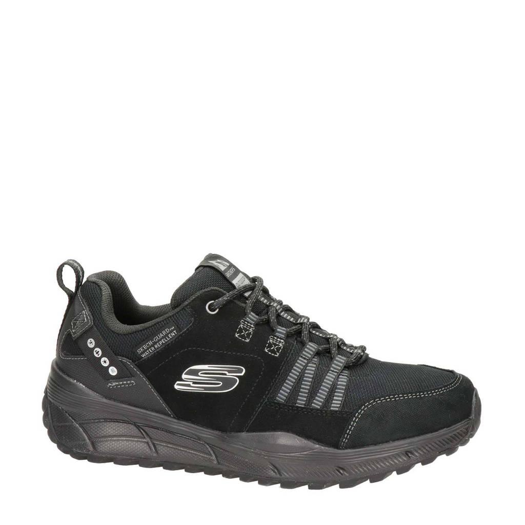Skechers Relaxed Fit  leren sneakers zwart, Zwart