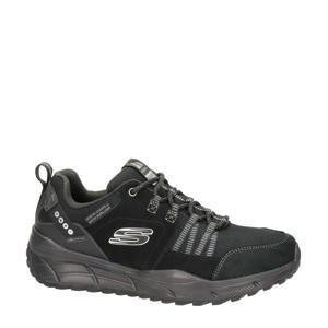 Relaxed Fit  leren sneakers zwart
