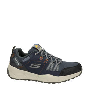 Relaxed Fit  leren sneakers blauw