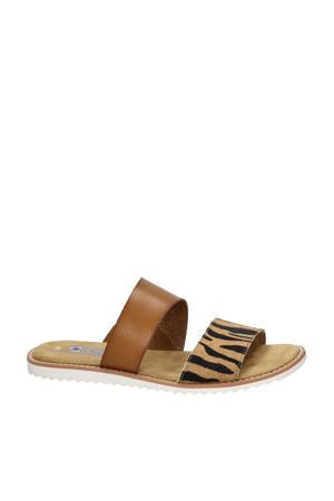 by Skechers Blazing Star slippers met zebraprint bruin
