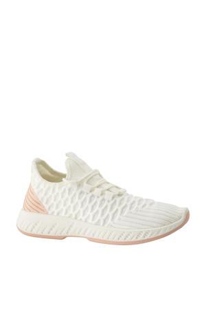 sneakers wit/zalmroze