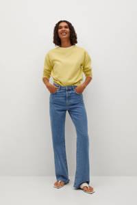 Mango fijngebreide trui geel, Geel