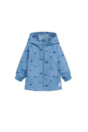 zomerjas met all over print middenblauw