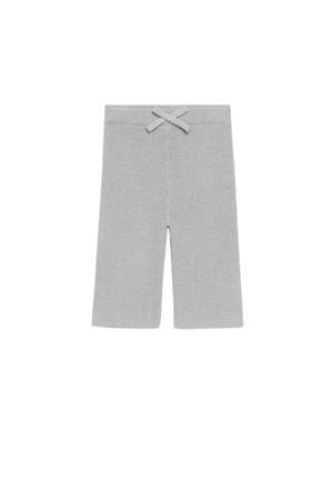 regular fit broek met biologisch katoen grijs