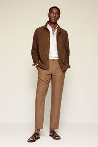 Mango Man slim fit pantalon bruin, Bruin
