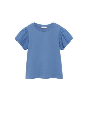 T-shirt met borduursels blauw