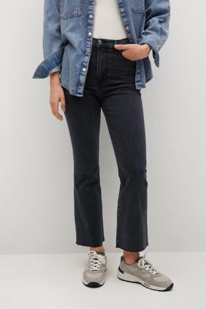 high waist flared jeans antraciet