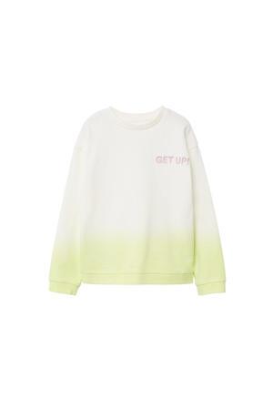 dip-dye sweater geel/offwhite