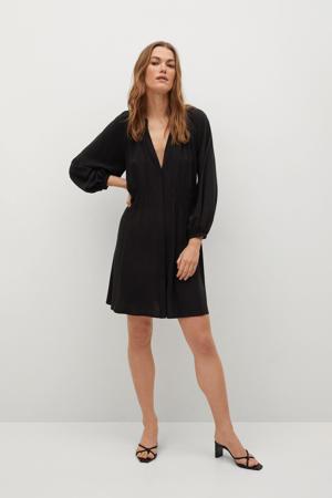 jurk doorknoop zwart