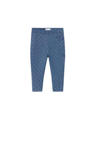 slim fit broek met stippen blauw