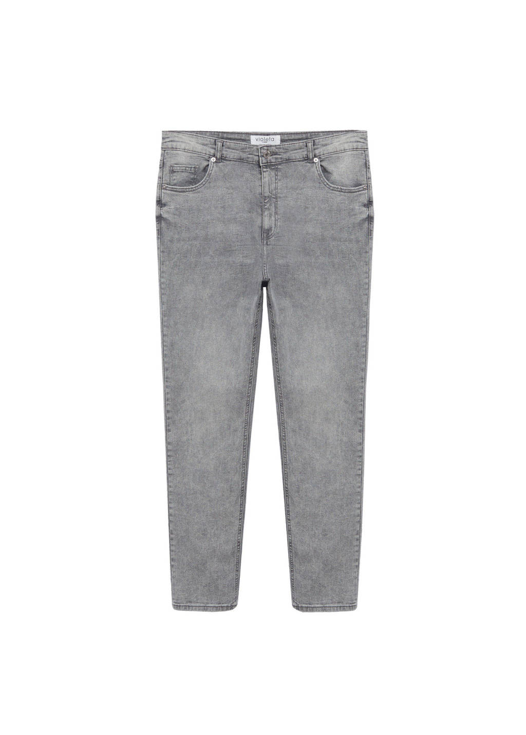 Violeta by Mango slim fit jeans grijs denim, Grijs denim