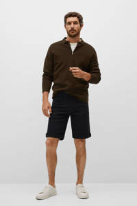Mango Man regular fit jeans short changeant grijs