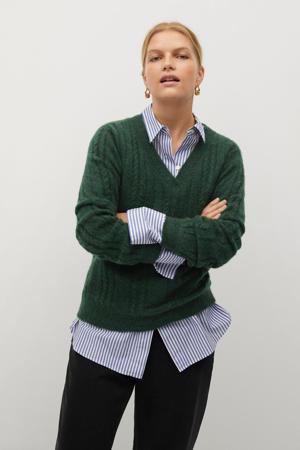 gebreide trui groen