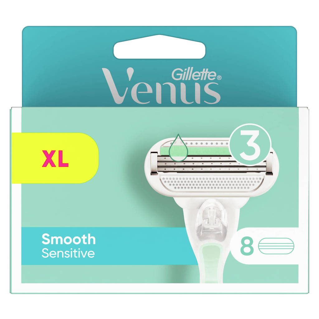 Gillette Venus Smooth Sensitive navulmesjes - 8 stuks