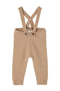 LIL' ATELIER BABY baby gemêleerde broek NBMEGALTO van biologisch katoen bruin, Bruin