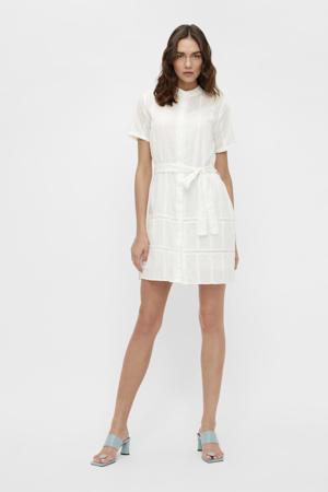 jurk OBJTALILA  met ceintuur wit