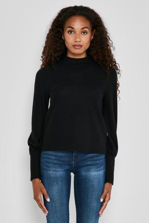 fijngebreide trui NMCITY zwart