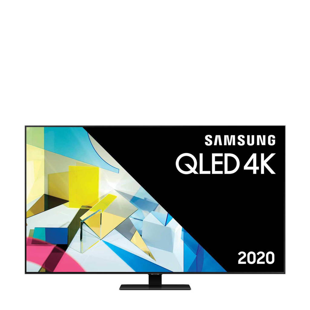 Samsung QE55Q80T (2020) 4K Ultra HD QLED TV, Carbon Zilver