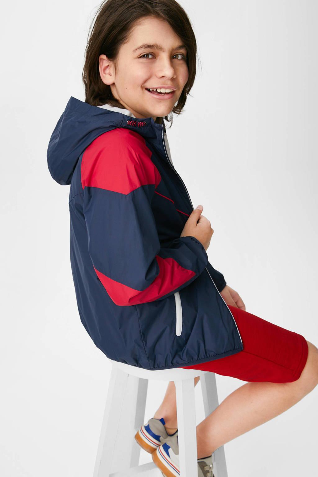 C&A Here & There  zomerjas met 3D applicatie donkerblauw/wit/rood, Donkerblauw/wit/rood