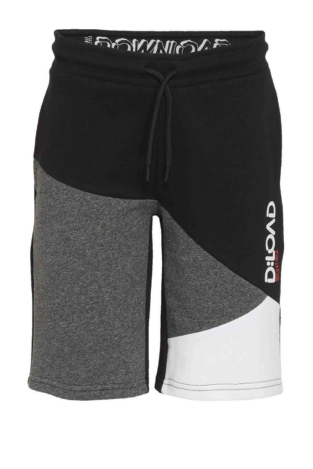 C&A sweatshort zwart/wit/grijs, Zwart/wit/grijs