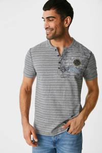 C&A gestreept T-shirt grijs, Grijs