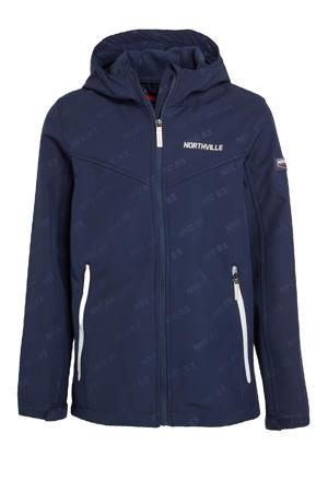 softshell jas zomer donkerblauw/wit
