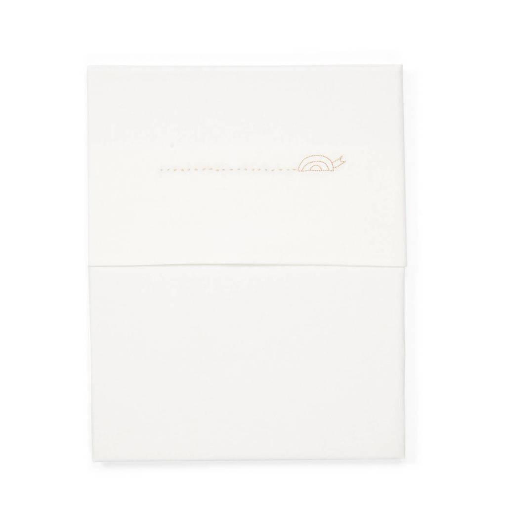 Koeka baby wieglaken Slow down 80x100 cm off white, Off White