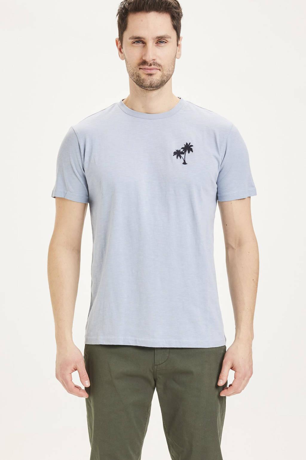 Knowledge Cotton Apparel T-shirt van biologisch katoen asley blue, Asley Blue