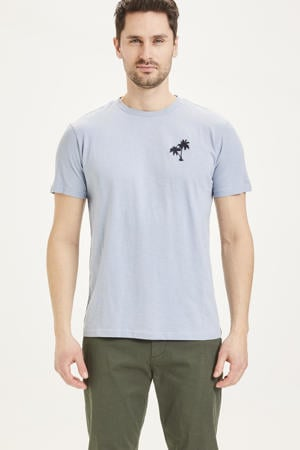 T-shirt van biologisch katoen asley blue