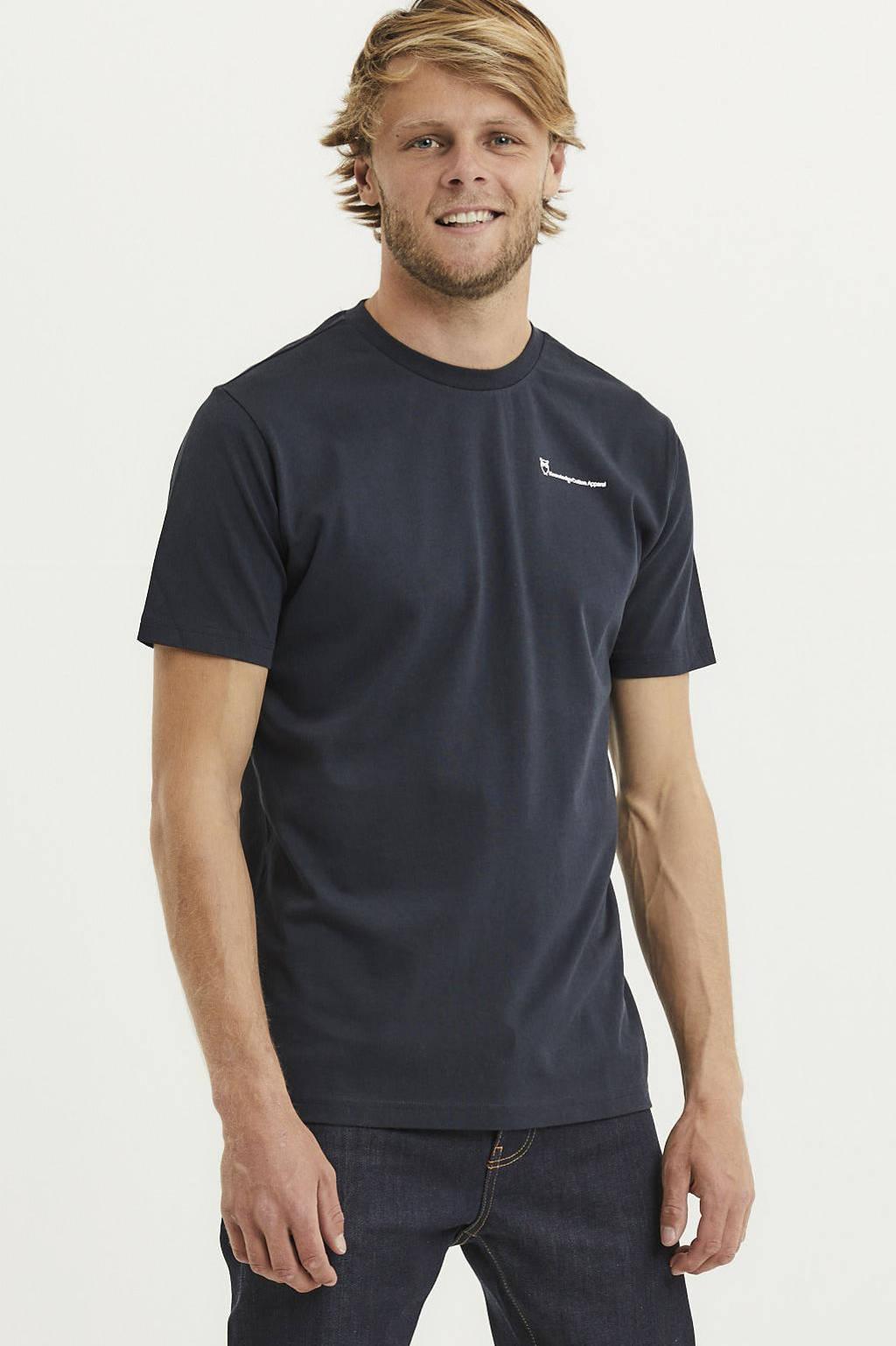 Knowledge Cotton Apparel T-shirt Alder van biologisch katoen total eclipse, Total eclipse