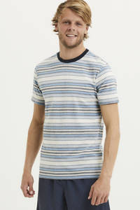 Knowledge Cotton Apparel gestreept T-shirt van biologisch katoen asley blue, Asley Blue