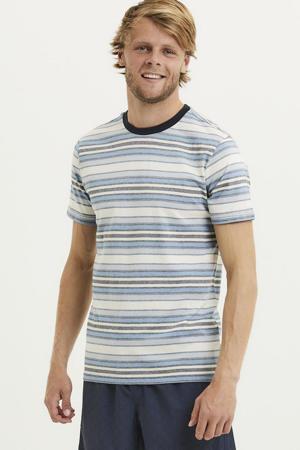 gestreept T-shirt van biologisch katoen asley blue
