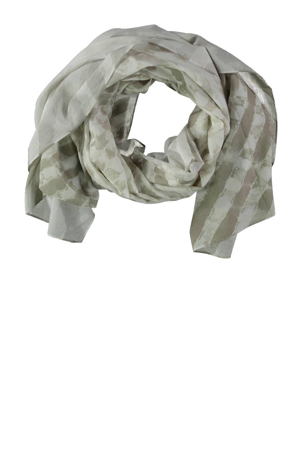 Claudia Sträter sjaal wit/beige, Wit/beige