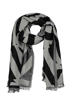 sjaal Bobby zwart/grijs