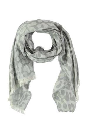 sjaal Diandra grijs/wit