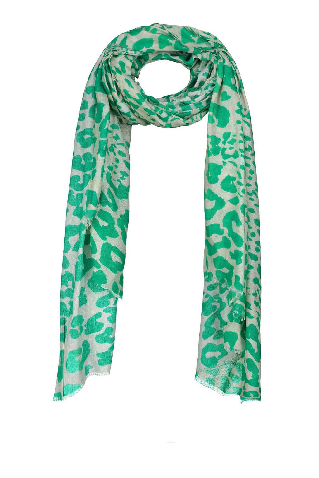 Expresso sjaal Ezzie groen/grijs, Groen/grijs