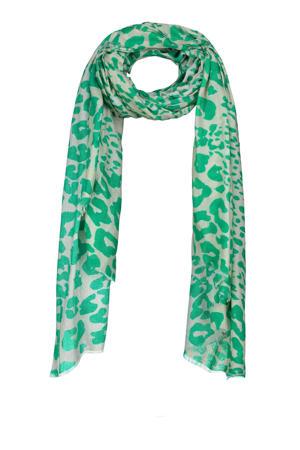 sjaal Ezzie groen/grijs